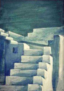 """""""Sky stairs"""", 100X0,80 εκ., 2017"""