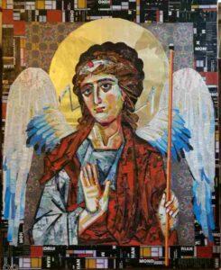 """""""Φύλαξ Άγγελος"""", Εικόνα κολάζ, 70Χ90 εκ.,2015"""